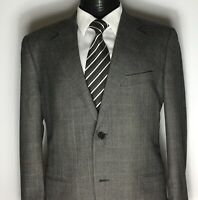 CORNELIANI Italian Grey PRINCE OF WALES CHECK 2Btn Super120'S WOOL Suit,Size 44R