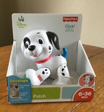 NEW Fisher Price Amazing Animals 101 DALMATIONS PUPPY Disney baby rattle toy