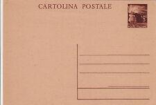 REPUBBLICA-CARTOLINA POSTALE 3L MARRONE - Nuova
