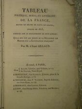 Pierre-Toussaint AILLAUD/ décadence des moeurs - littérature française / 1823