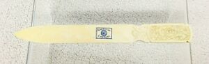 Antique Celluloid Carved rose American Express Letter Opener