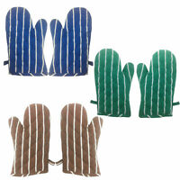 Kitchen Oven Gloves 100% Heat Resistant Cotton Padded Gauntlet Oven Mitts