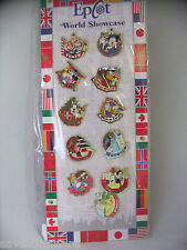 Disney Trading Pins EPCOT WORLD SHOWCASE STARTER SET for your Lanyard Set of 11