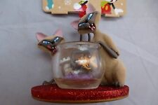 NEW - Disney Store Hanging Christmas Tree Ornament - Si & Am - Lady & The Tramp