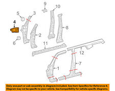 TOYOTA OEM 14-18 4Runner HINGE PILLAR-Apron Reinforcement Right 6101535020