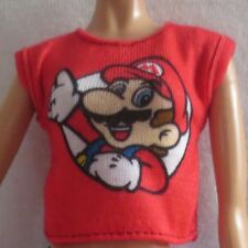 NEW 2018 Barbie Doll Super Mario Red T-Shirt Tee Top Fashionista Clothing