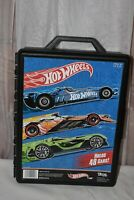 Hot Wheels Case, Black, Tara Toy Corp, Made in USA, Holds 48 Cars