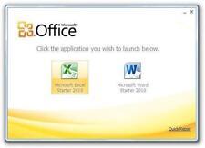 MICROSOFT OFFICE 2010 STARTER DVD WORD EXCEL HOME & STUDENT 365 WINDOWS 7 8 10