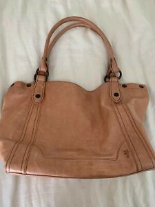 Frye Tote Bag. A beautiful light brown with large straps for the shoulder.