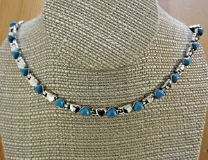 Magnetic Link Turquoise Stone Necklace - Arthritis Pain Relieve Necklace