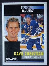 NHL 244 Dave Christian St. Louis Blues Pinnacle 1991/92