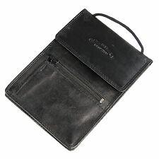 echt Leder Brustbeutel Brusttasche reise Tasche 5401C schwarz