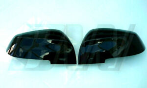GLOSS BLACK MIRROR COVERS CAPS for BMW 2 SERIES 2013+ F22 COUPE F23 CONV F45 F46