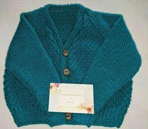 Hand knitted baby's cardigan 3-6 months