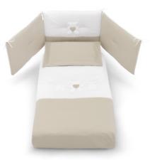 Completo Piumone e Paracolpi Bianco tortora Coll. Molly Erbesi - X06243