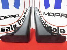 DODGE CHARGER Deluxe Molded Rear Black Splash Guards NEW OEM MOPAR