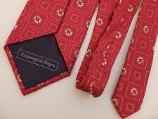 Red Power Tie Geometric Design Ermenegildo Zegna Men's Neck Ties