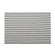 ProCook Rectangular Placemats Set of 4 - Grey and White Stripe