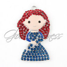 1PC 57x34mm Red Hair Little Girl Pendant for Bubblegum Chunky Bead Necklace