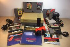 Nintendo NES Console System Bundle Zapper Punch Out Mario 3 Turtles Arcade extra