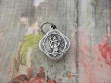 Vintage Catholic Medal ST. JUDE THADDEUS 15mm silver finish metal