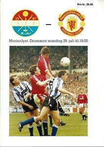 Stromgodset v Manchester United Pre Season 1991/92 Friendly Programme - 29/07/91