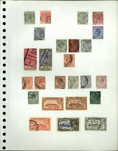 Gibraltar QV-KGV Album Page Of Stamps #V18188