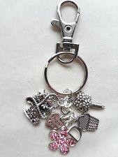 Handmade personalised/custom made keyring or bookmark - various charms available