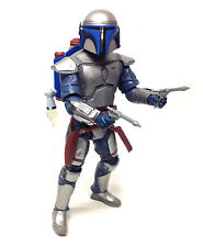 "STAR WARS 12"" 1/6th scale Electronic JANGO FETT toy action figure, no missile"