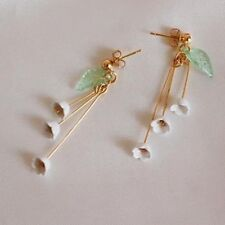 New Fashion Pendant Dangle Earrings ear clip flowers of the lily of the valley