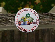 "Budweiser Bud Light Bud Ice 3"" Metal Pin Pinback Button Frog Toad Kiss Me Irish"