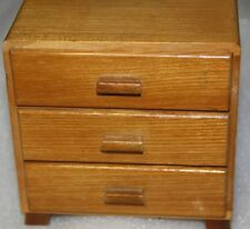 Chest of draws for doll for doll's house wood veneer by Eruko dolls furniture