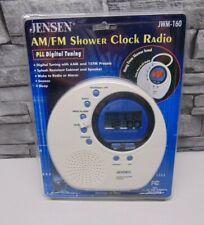 Jensen Jwm-160 Water-Resistant Digital Am/Fm Shower Clock Radio New Sealed