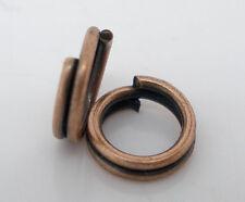 1000PCs Copper Tone Double Loops Split Open Jump Rings 5mm Dia. SP0093