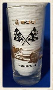 Four Vintage Indy 500 Glasses Roger Ward, Sam Hanks, Wilbur Shaw, Jimmy Bryan