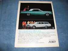 "1968 Ford Fairlane Coupe and Wagon Vintage Ad ""Most car for the Money?"""