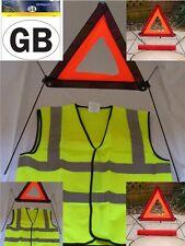 Emergency Red Warning Triangle Hi High Vis Viz Vest Magnetic GB Sticker Sign Kit