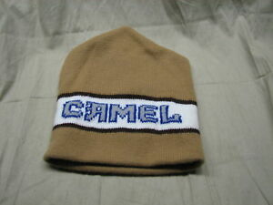 camel cap skull beanie smoke NEW