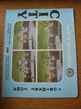 29/08/1978 Manchester City v Grimsby Town [Football League Cup] (Item has no app