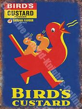Vintage Food, 91, Bird's Custard, Retro Duck Cafe Old Shop, Large Metal/Tin Sign