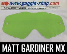 Goggle-shop Lente Para Spy Targa 3 / Whip / Klutch Motocross Gafas Color Verde