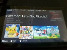 Nintendo Switch ONLY TABLET, Patched, NOT BANNED, 128g, 4 games, no cables