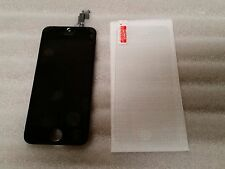 Iphone 5c Black LCD Digitizer Screen Assembly Digi & Tempered Glass