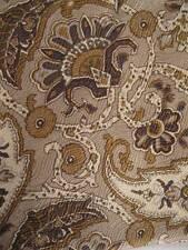 Geoffrey Beene Necktie Beige & Brown Paisley Floral 100% Silk Made In USA (O)