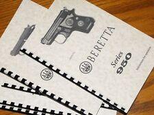 BERETTA 950 & 950 BS JET FIRE Pistol Owners  Manual