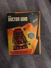 Doctor who red supreme  Dalek figurine  and mini  book box set