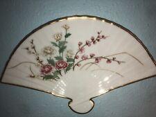 """Vintage Fine Porcelain Lenox """" The Plum Blossom Fan """" Winter 1988"""
