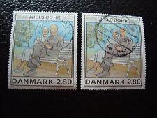DANEMARK - timbre yvert et tellier n° 851 x2 obl (A33) stamp denmark