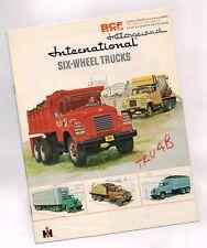 1961? INTERNATIONAL TRUCK BCF 6 Wheel Brochure: 170,180,6x6,Dump