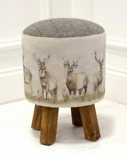 Voyage Monty Stool / Footstool - 'Moorland Stag' - Available NOW Best Price!!